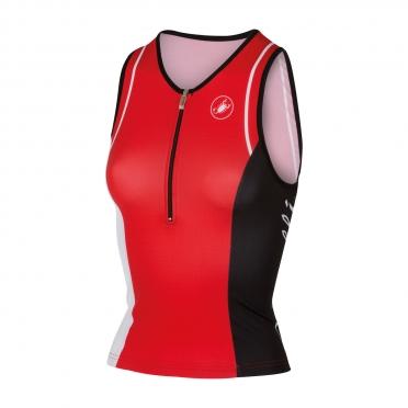 Castelli Core W tri singlet red women 14120-023