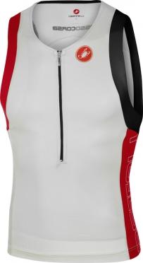 Castelli Free tri top men white/red 16069-123