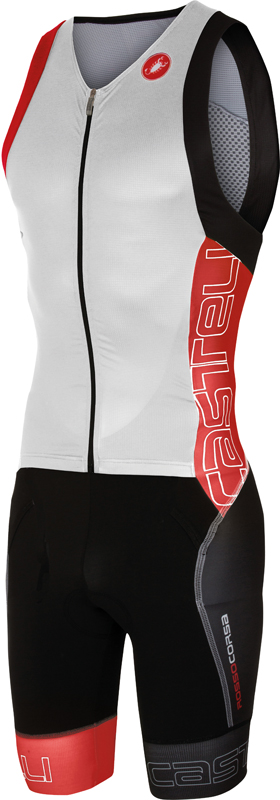 Castelli Free sanremo tri suit sleeveless men white/red 16071-123