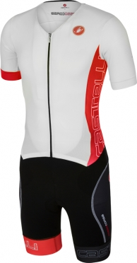 Castelli Free sanremo tri suit short sleeve men white/red 16073-123