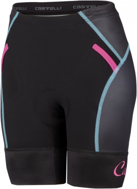 Castelli Free W tri Short black/blue/pink women