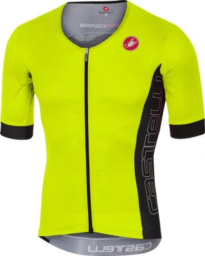 Castelli Free speed race jersey tri top yellow/anthracite men