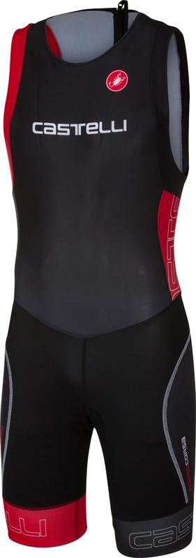 Castelli Short distance tri suit sleeveless black/red men