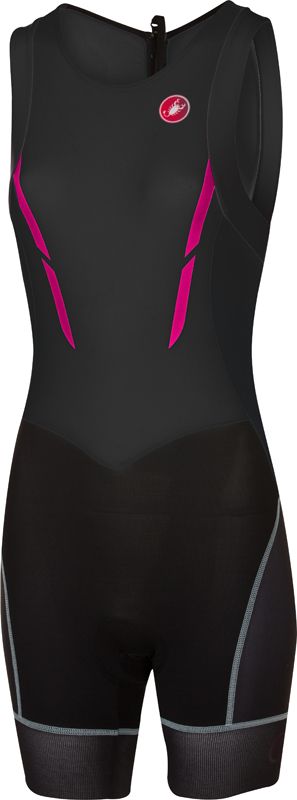 Castelli Short distance tri suit sleeveless black/pink women