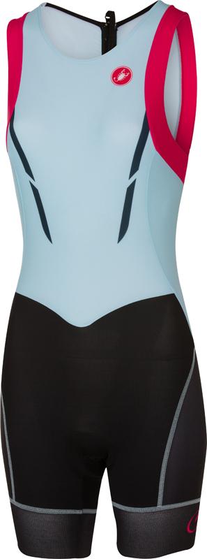 Castelli Short distance tri suit sleeveless blue/pink women