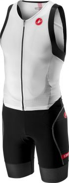 Castelli Free sanremo trisuit sleeveless white/black men
