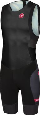 Castelli Free tri ITU suit back zip sleeveless black men