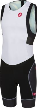 Castelli Free tri ITU suit back zip sleeveless white/black men