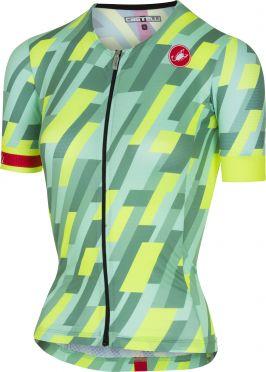 Castelli Free speed W race jersey tri top mint/yellow fluo women