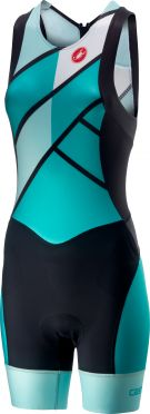 Castelli Free W tri ITU suit back zip sleeveless green women
