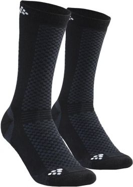 Craft warm mid socks black 2-pack