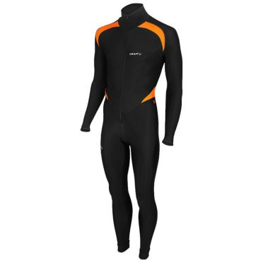Craft Thermo skatesuit colorblock black/orange unisex