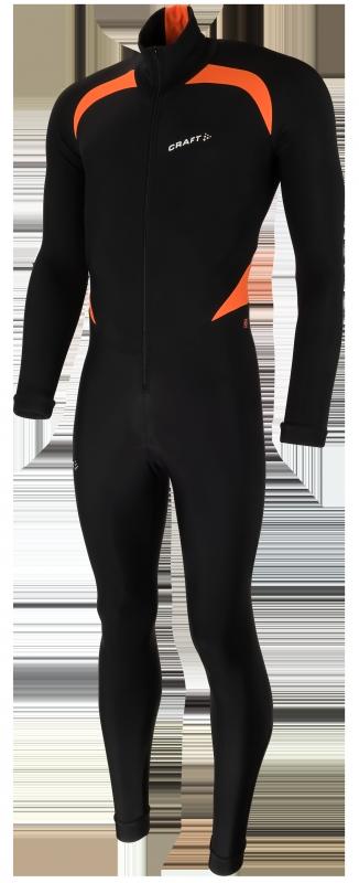 Craft Thermo skatesuit colorblock black/orange unisex