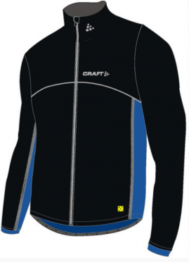 Craft Thermo skate jacket windstopper flatlock black/blue unisex