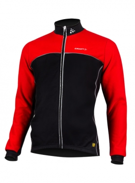 Craft Thermo skate jacket windstopper flatlock black/red unisex