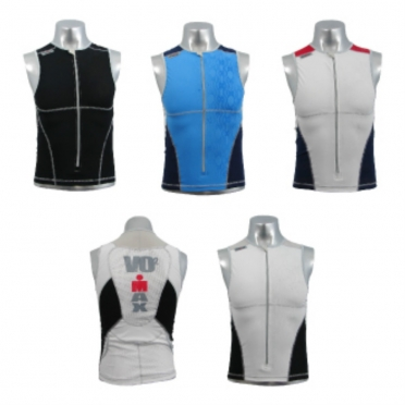Ironman men's zip tri top (8504)