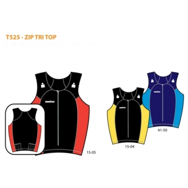 Ironman men's zip tri top (T525)