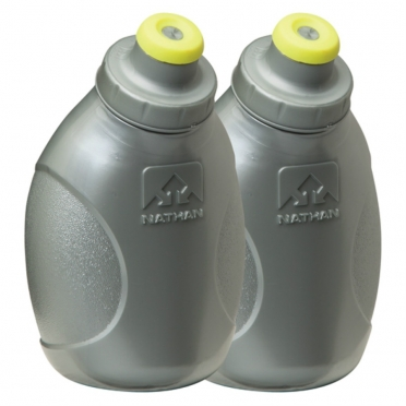 Nathan drink bottle 2-Pack, Silver (Push-Pull Cap) 975307