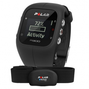 Polar A300 sports watch black with heart rate