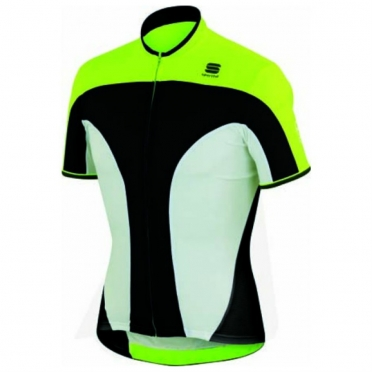 Sportful Crank 3 cycling jersey yellow/black/white men