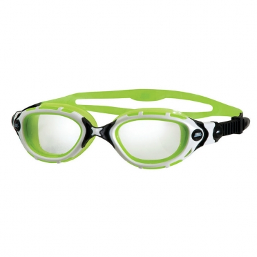 Zoggs Predator Flex Reactor goggles white/black/green