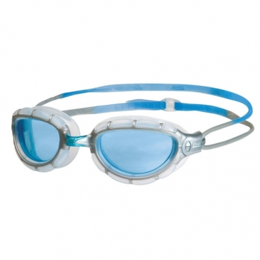 Zoggs Predator goggles silver/blue - blue lens