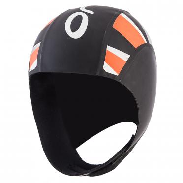 Orca Neoprene thermal swimcap black/orange