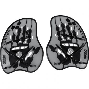 Arena Vortex Evolution hand paddles silver