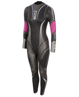 Huub Acara 3:3 wetsuit black/pink women