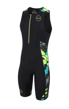 Zone3 Activate plus sleeveless trisuit Electric sprint men
