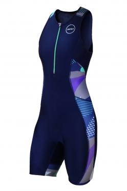 Zone3 Activate Plus Trisuit Blue/Camo Women