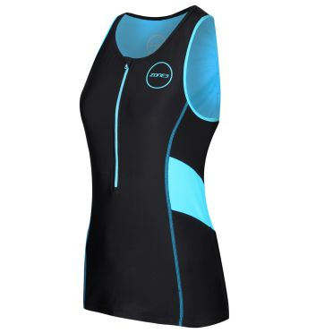 Zone3 Activate tri top sleeveless black/blue women