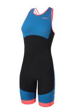 Zone3 Aeroforce swimback sleeveless trisuit blue/black women