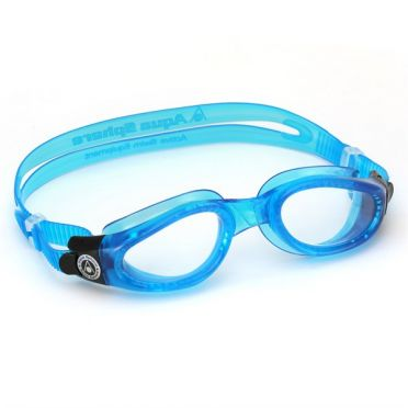 Aqua Sphere Kaiman clear lens swimming goggles blue