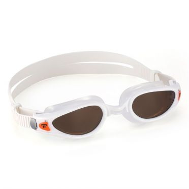 Aqua Sphere Kaiman EXO Polarized lens swimming goggles white/orange