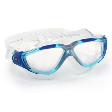 Aqua Sphere Vista clear lens goggles blue