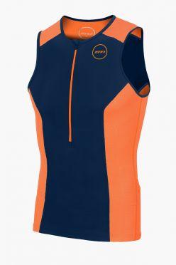 Zone3 Aquaflo plus sleeveless tri top blue/orange men