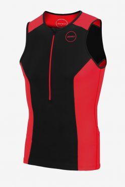 Zone3 Aquaflo plus sleeveless tri top black/red men