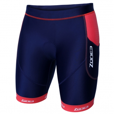 Zone3 Aquaflo plus tri short navy/coral women