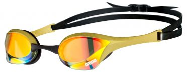 Arena Cobra ultra swipe mirror zwembril gold/black