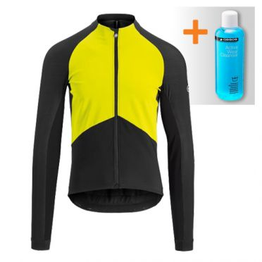 Assos Mille GT spring fall jacket fluo yellow men