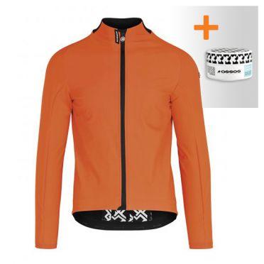 Assos Mille GT Ultraz winter EVO cycling jacket orange men