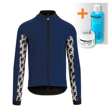 Assos Mille GT ultraz winter jacket blue men