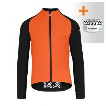 Assos Mille GT winter EVO Cycling jacket orange men