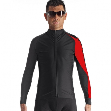 Assos Milleintermediate_evo7 cycling jacket black/red men