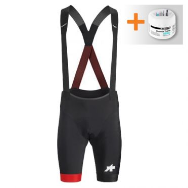 Assos S9 Equipe RS bibshorts black/red men