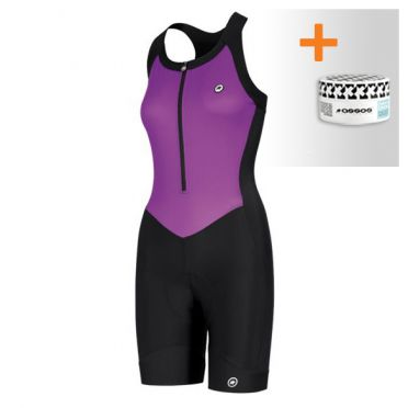 Assos UMA GT NS EVO bodysuit purple women