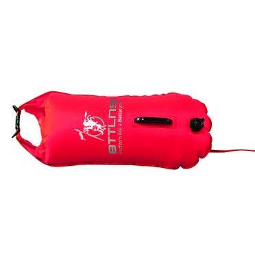 BTTLNS Saferswimmer buoy dry bag 28 liter Poseidon 1.0 red