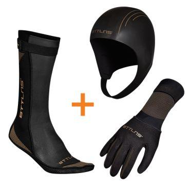 BTTLNS Neoprene accessories bundle black/gold
