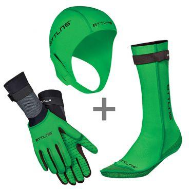 BTTLNS Neoprene accessories bundle green
